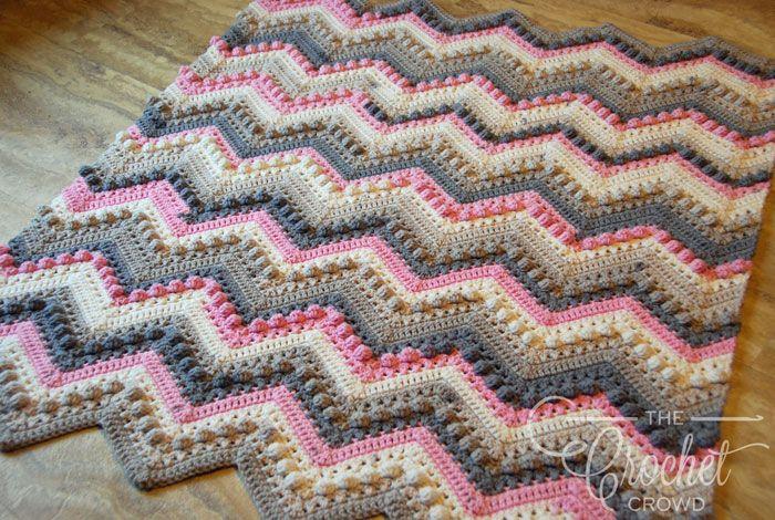 Crochet Hugs & Kisses Baby Blanket + Tutorial | Pinterest | Decken