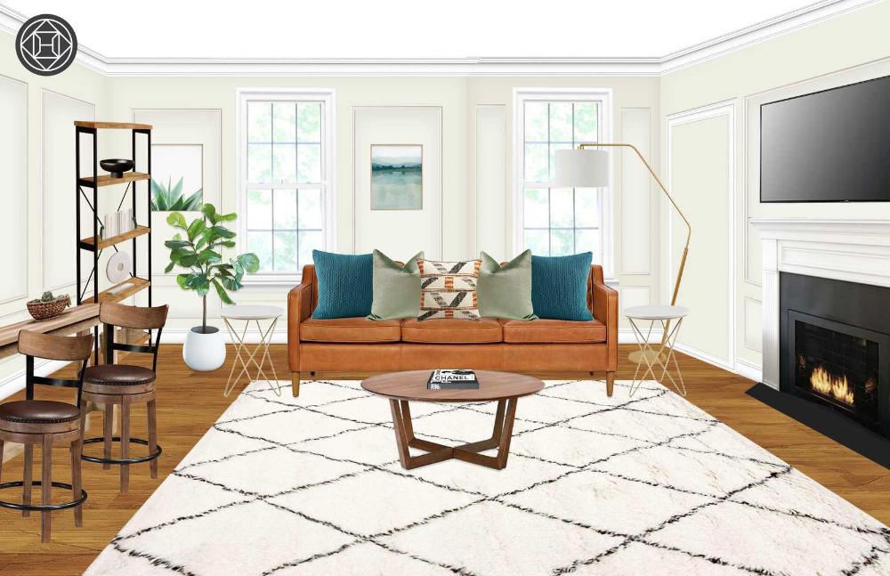 Modern Bohemian Midcentury Modern Scandinavian Living Room Design By Havenly Interior Designer Stephanie In 2020 Scandinavian Design Living Room Mid Century Modern Living Room Living Room Scandinavian