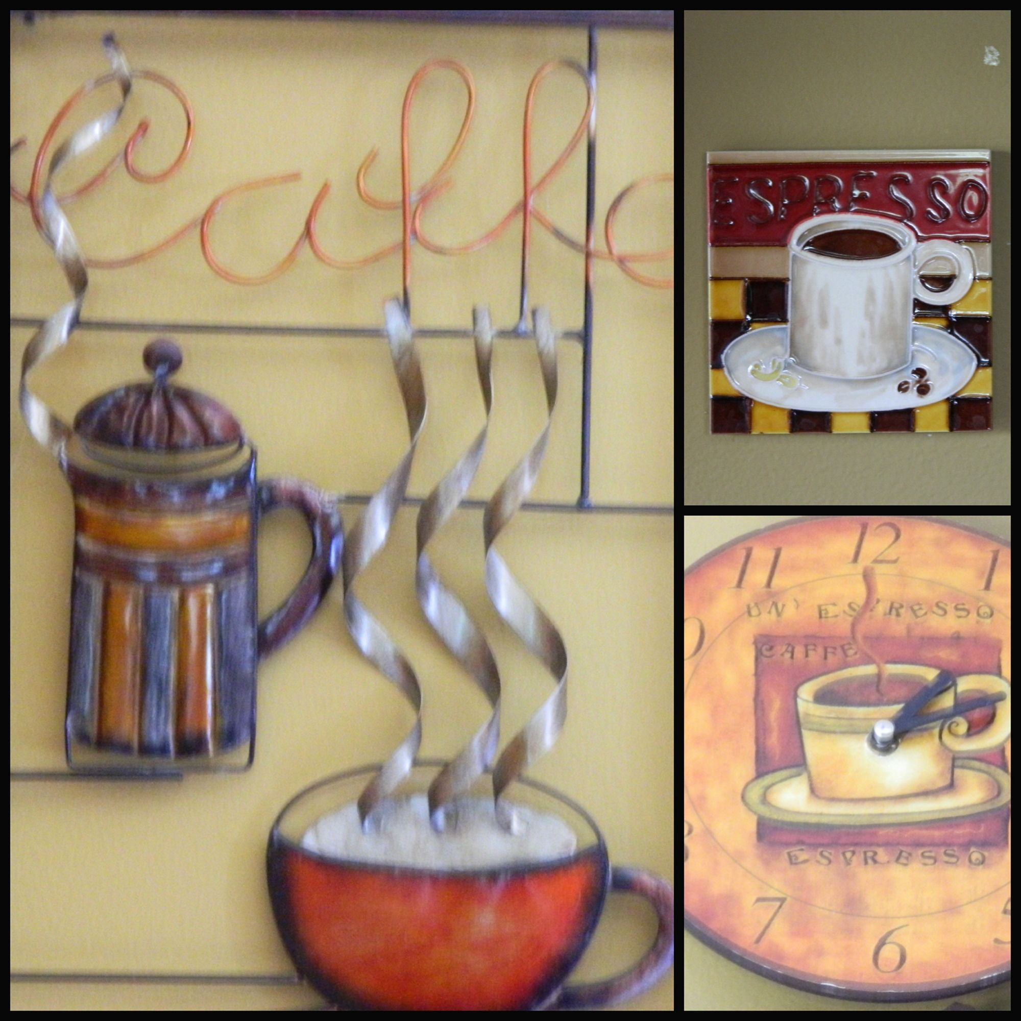 Great Coffee Themed Kitchen Wall Decor Ideas - The Wall Art ...