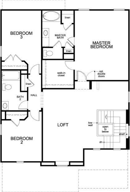 New Homes in Houston, TX - Plan 2526, Second Floor