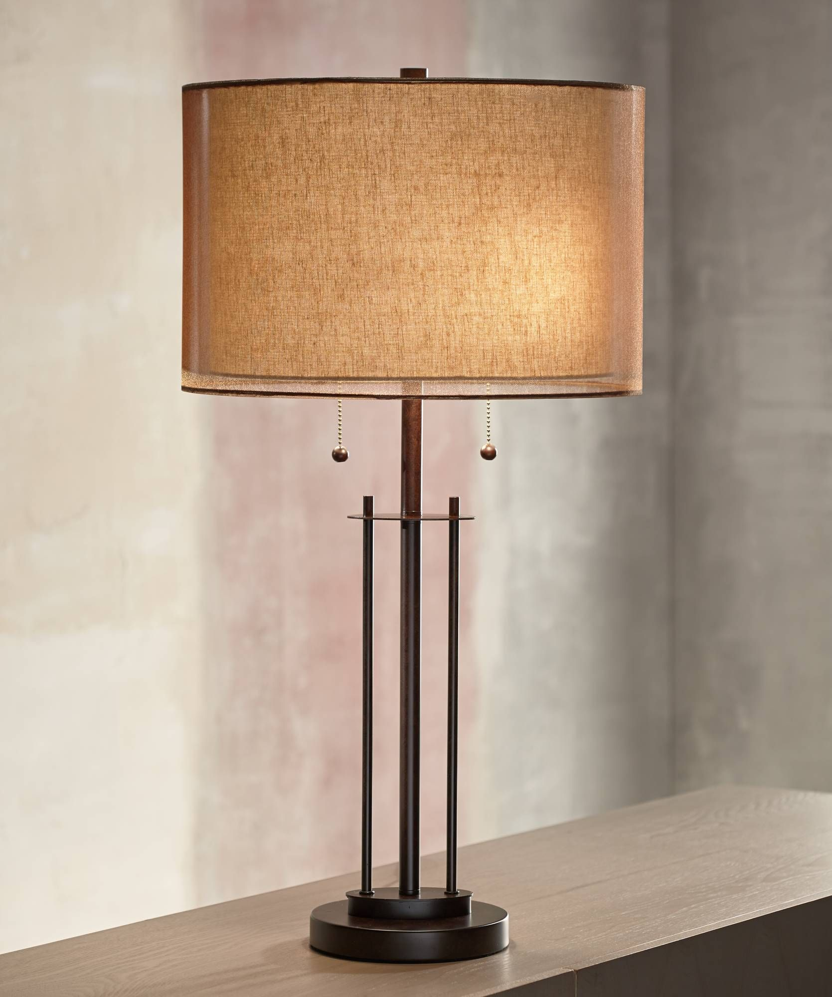 Howell Double Drum Shade Bronze Table Lamp 5y471 Lamps Plus In 2021 Bronze Table Bronze Table Lamp Table Lamp