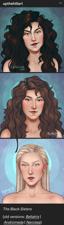 The Black Sisters Harry Potter Portraits Harry Potter Background Harry Potter Artwork