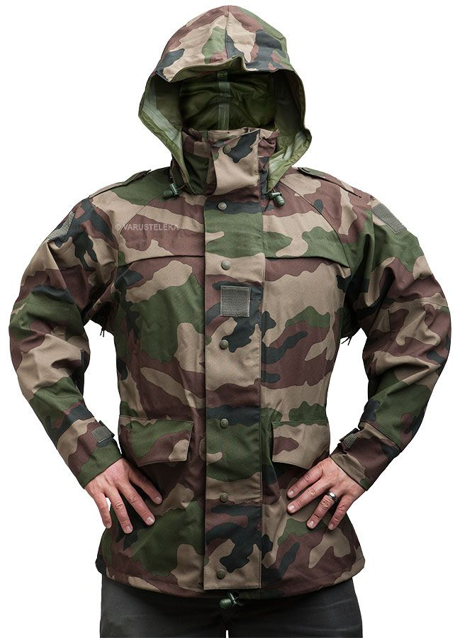 Genuine French Army Issue Waterproof Gore-Tex CCE Camouflage Rain Jacket