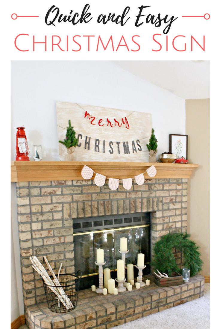 Quick And Easy Christmas Sign Christmas Signs Diy Christmas