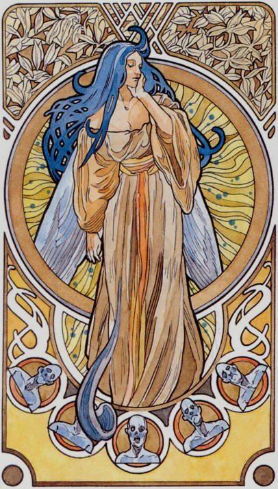 XX - Le jugement - Tarot art nouveau par Antonella Castelli