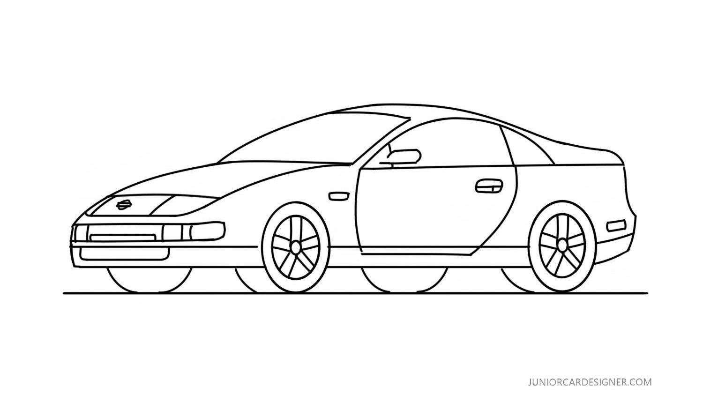 Draw A Nissan 300zx