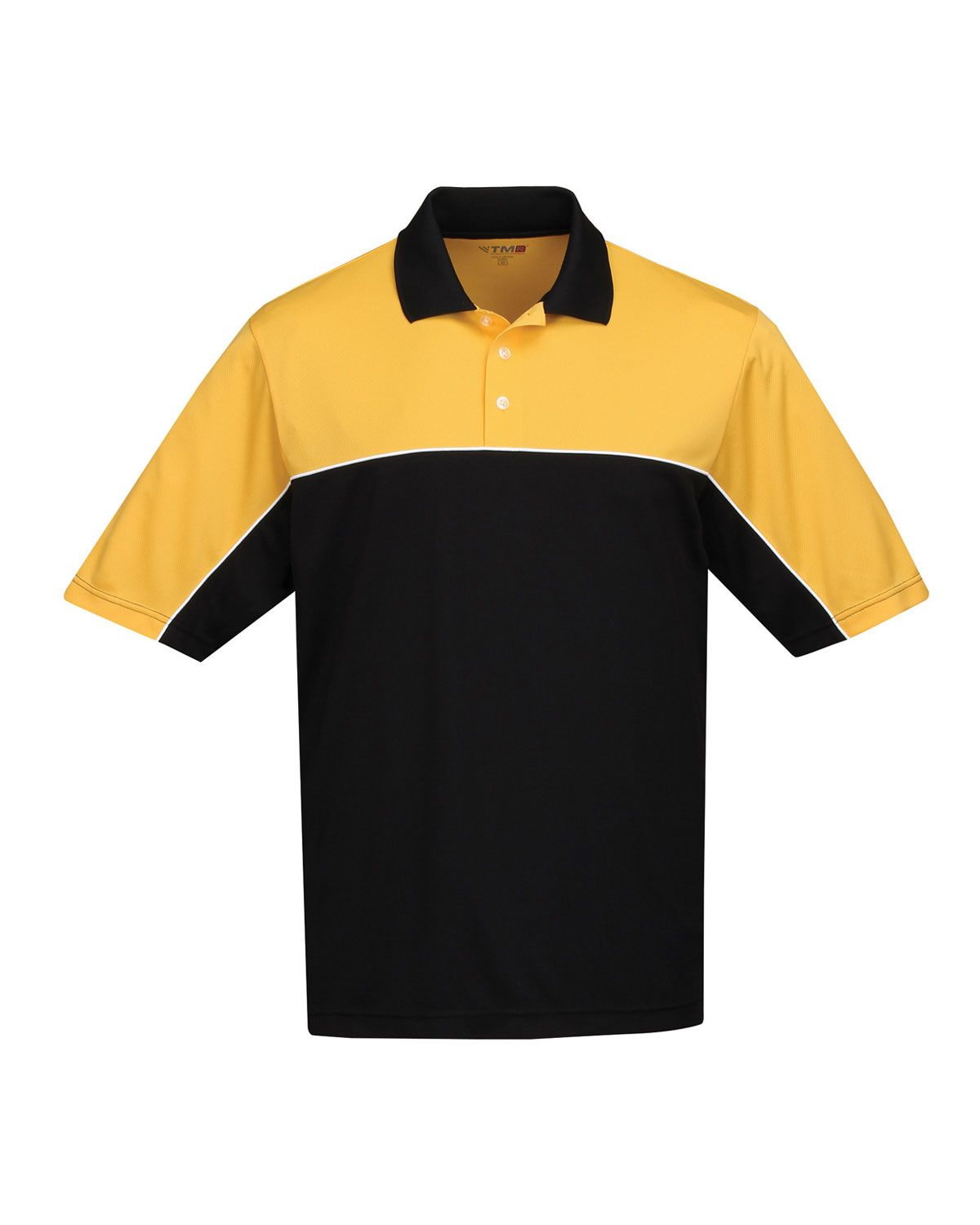 Mens polyester Color blocking polo shirt. Tri mountain K908 #colorblock #tshirt