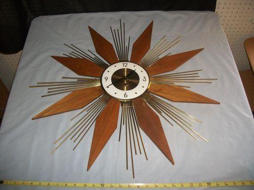 Mid Century Modern Clocks Sunburst Clock Mid Century Modern Clocks Modern Clock