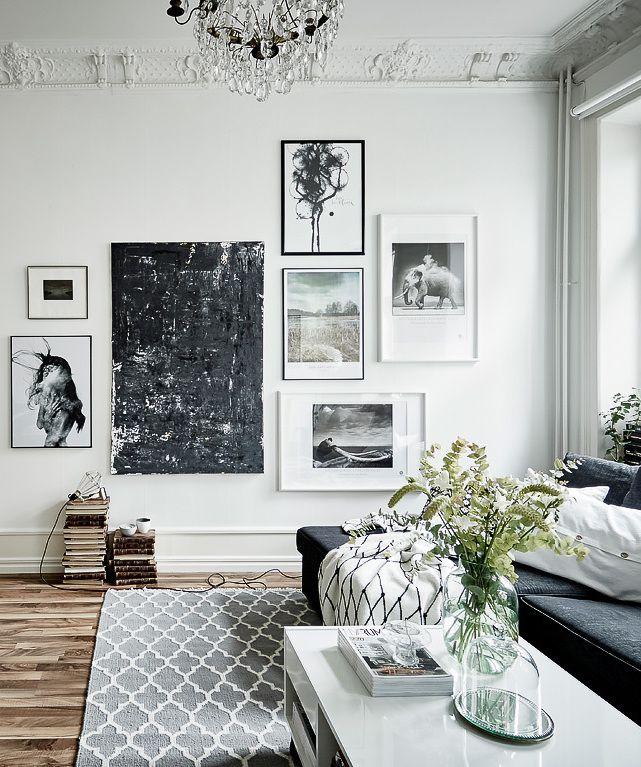 Pin by roc o on living room ideas wohnzimmer bilderwand - Bilderwand wohnzimmer ...