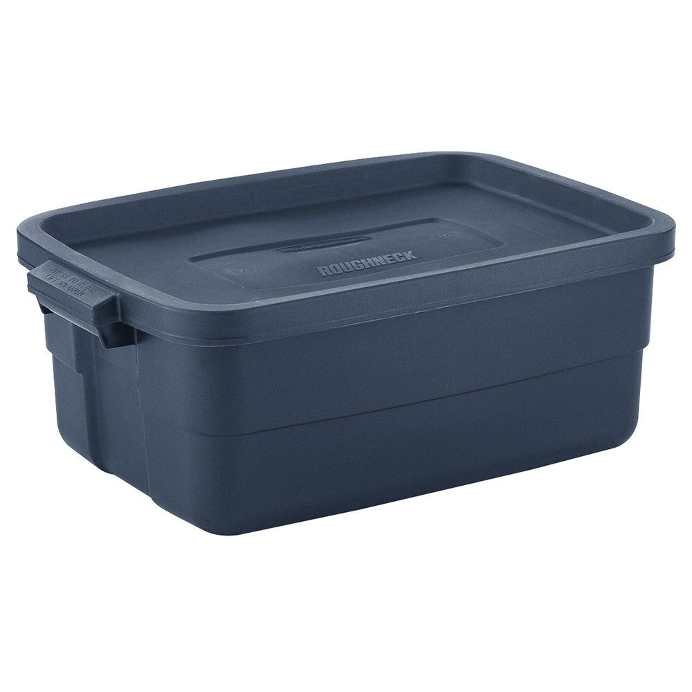 Rubbermaid Roughneck 10 Gallon Rugged Stackable Storage Tote Container 6 Pack Tote Storage Plastic Storage Plastic Storage Totes