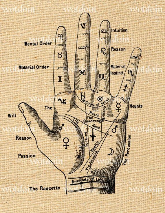 Fortune Teller Palmistry Hand Digital Image Transf