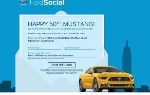 Aos 50 Anos Mustang Quer Ir Para O Guinness Http