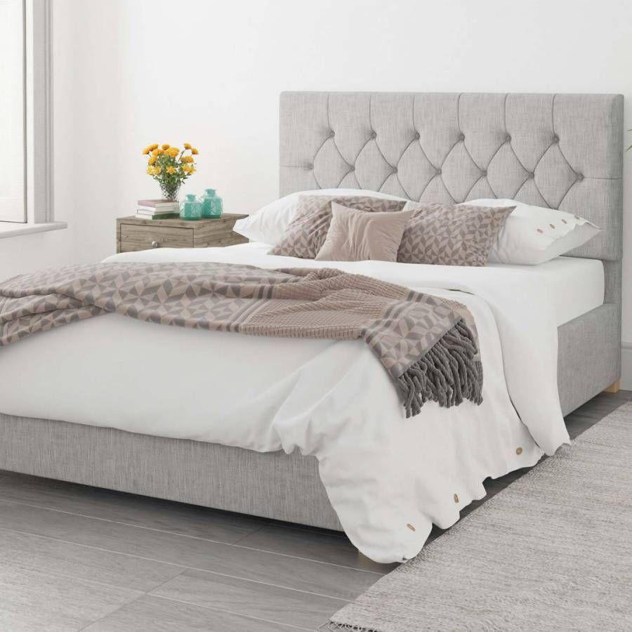 Aspire Furniture Olivier 100 Cotton Upholstered Ottoman Bed Storm Superking 6 In 2020 Ottoman Bed Ottoman Storage Bed Upholstered Ottoman