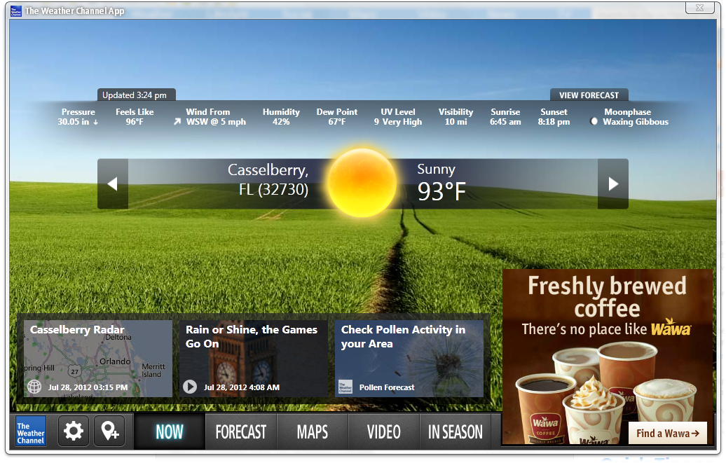 BARRY'S BEST WINDOWS, ANDROID AND IOS APPS The Weather