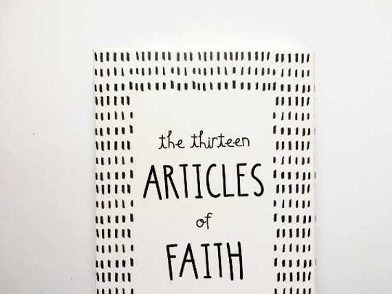 Article of Faith PDF Instant download size A6/ 4x6 in 2019