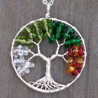 Glass Tree of Life Pendant Necklace - Seasons by Ellen Thurmond at ...