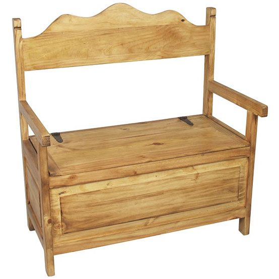 Miraculous Mexican Rustic Pine Storage Bench In 2019 Down Size Cabin Machost Co Dining Chair Design Ideas Machostcouk