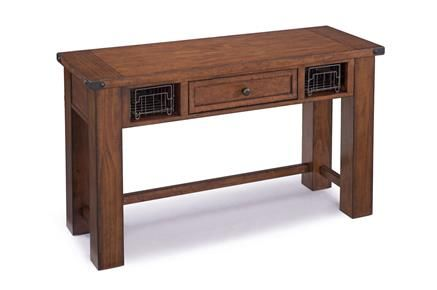 Parker Lane Cottage Natural Pine Wood Rectangular Sofa Table Sofa Table Sofa Tables Furniture