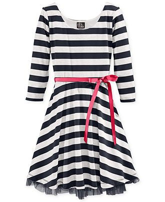 595754abe Pink   Violet Girls  Striped Ruffle Dress - Kids Girls 7-16 - Macy s ...