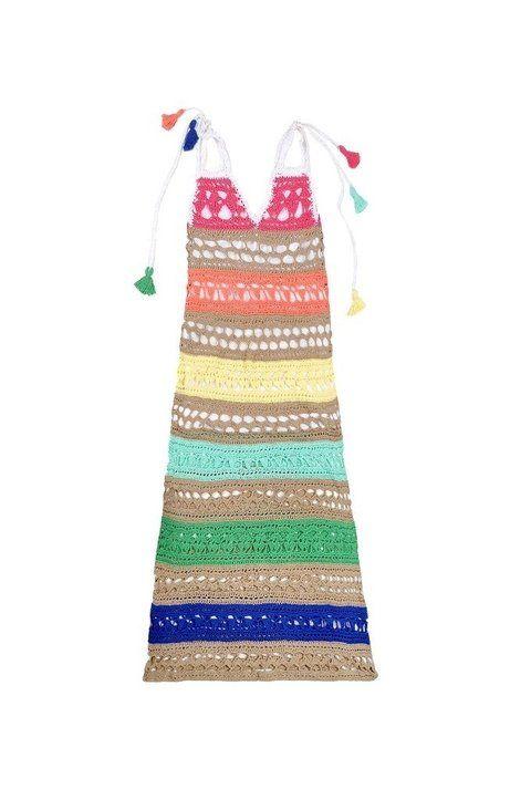 Vestido largo crochet cuba art 2214 | Pinterest | Vestido largo ...