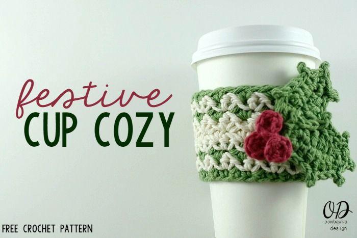 Festive Cup Cozy | Vasos, Navidad y Agarraderas