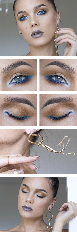Blue Makeup: Todays Look – Bright Turquoise - Lindas Sminkblogg