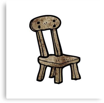 Cartoon Old Wooden Chair Sticker By Octoberarts Old Wooden Chairs Wooden Chair Outdoor Chairs Design