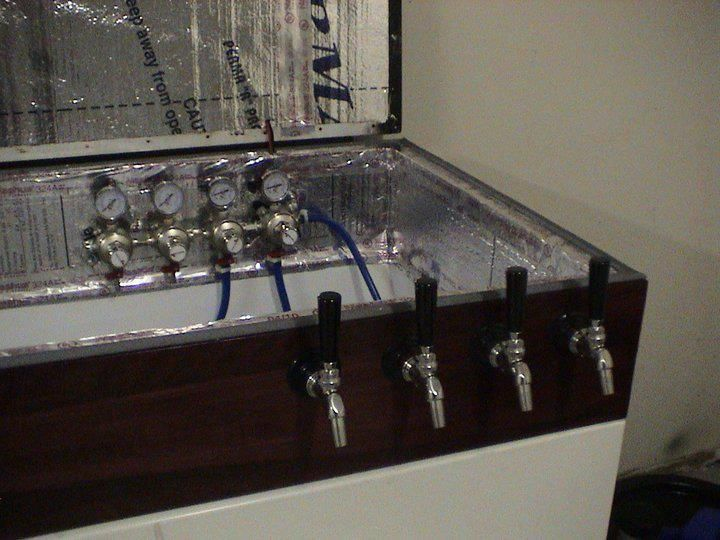 4 tap keezer made with Perlick faucets and Micromatic regulator ...