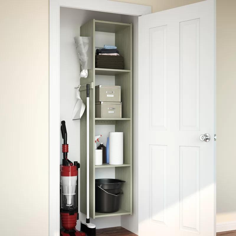Project Tidy Aaron 15 25 W Utility Closet System Reviews Wayfair In 2020 Utility Closet Closet Organizing Systems Closet System