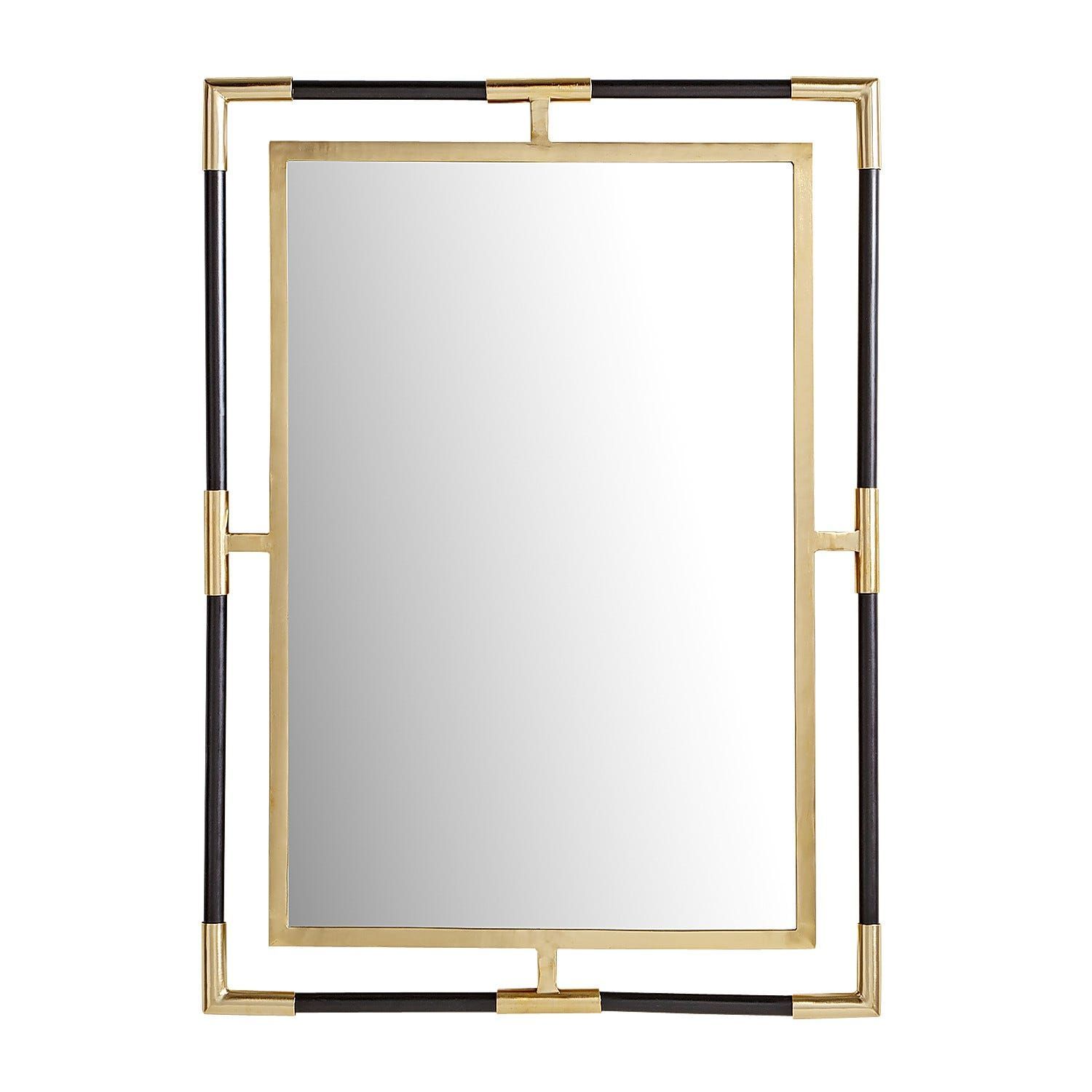 Black Gold Open Frame Mirror Pier 1 Black And Gold Bathroom Mirror Frames Powder Room Mirror [ 1500 x 1500 Pixel ]