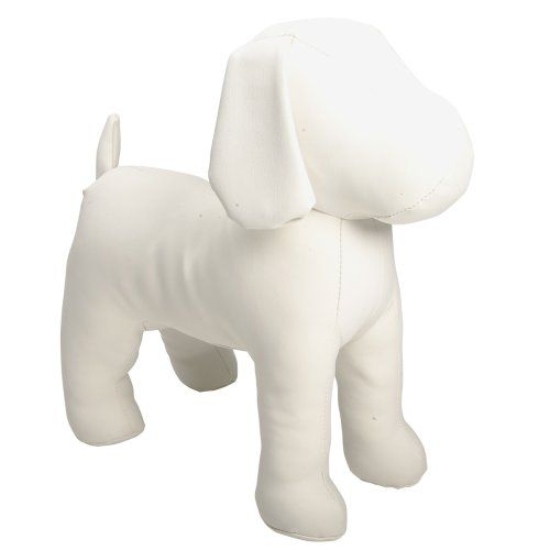 2282 2500 Teafco Cleo Standing Leather Dog Mannequin This
