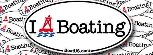 BoatUS Free I Buoy Boating Sticker via Facebook Canada