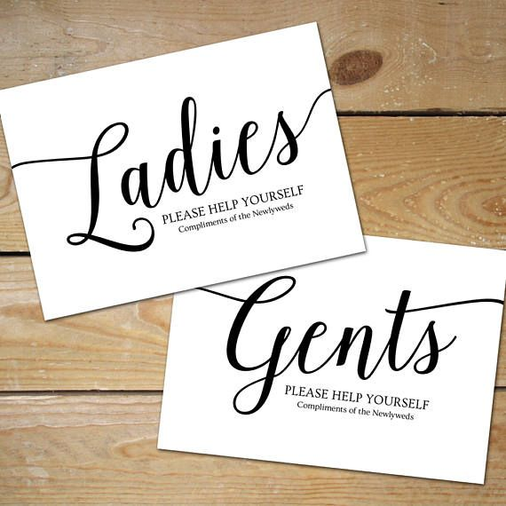 Bathroom Signs Wedding printable bathroom signs wedding bathroom basket sign | jill and