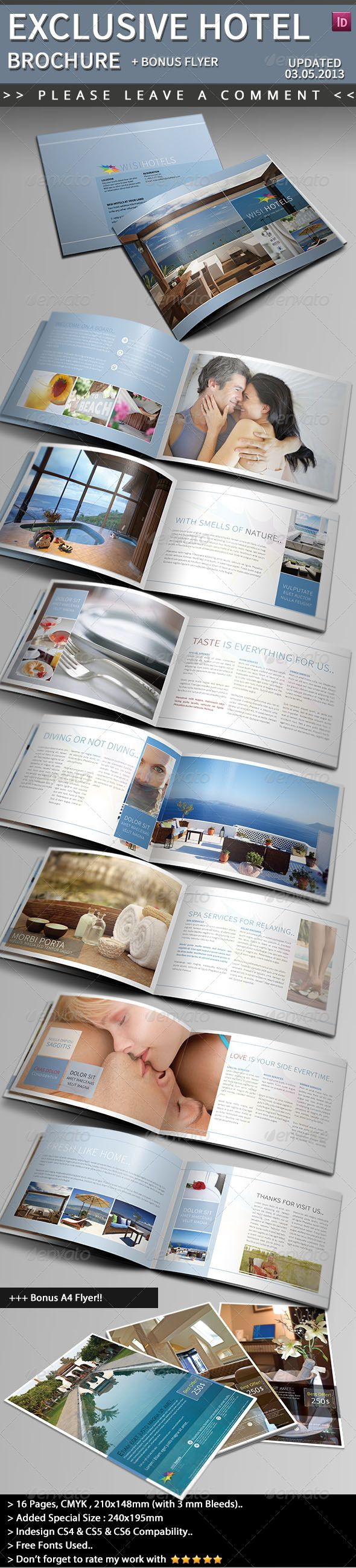Exclusive Hotel Brochure  Hotel Brochure Brochure Template And