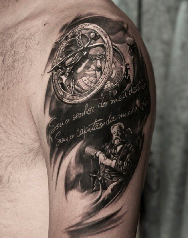 30 Awesome Steampunk Tattoo Designs Cuded Steampunk Tattoo Tattoos Steampunk Tattoo Design