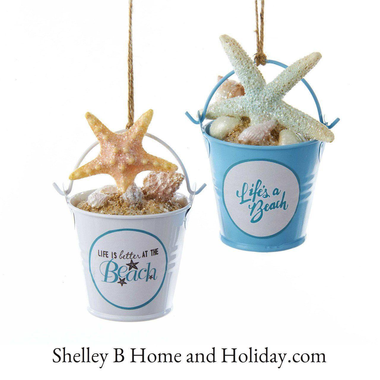 Anchor ornaments - Decorate A Beach Themed Christmas Tree With Sand Bucket Starfish Fish Sail Boat Bucket Ornamentsanchor