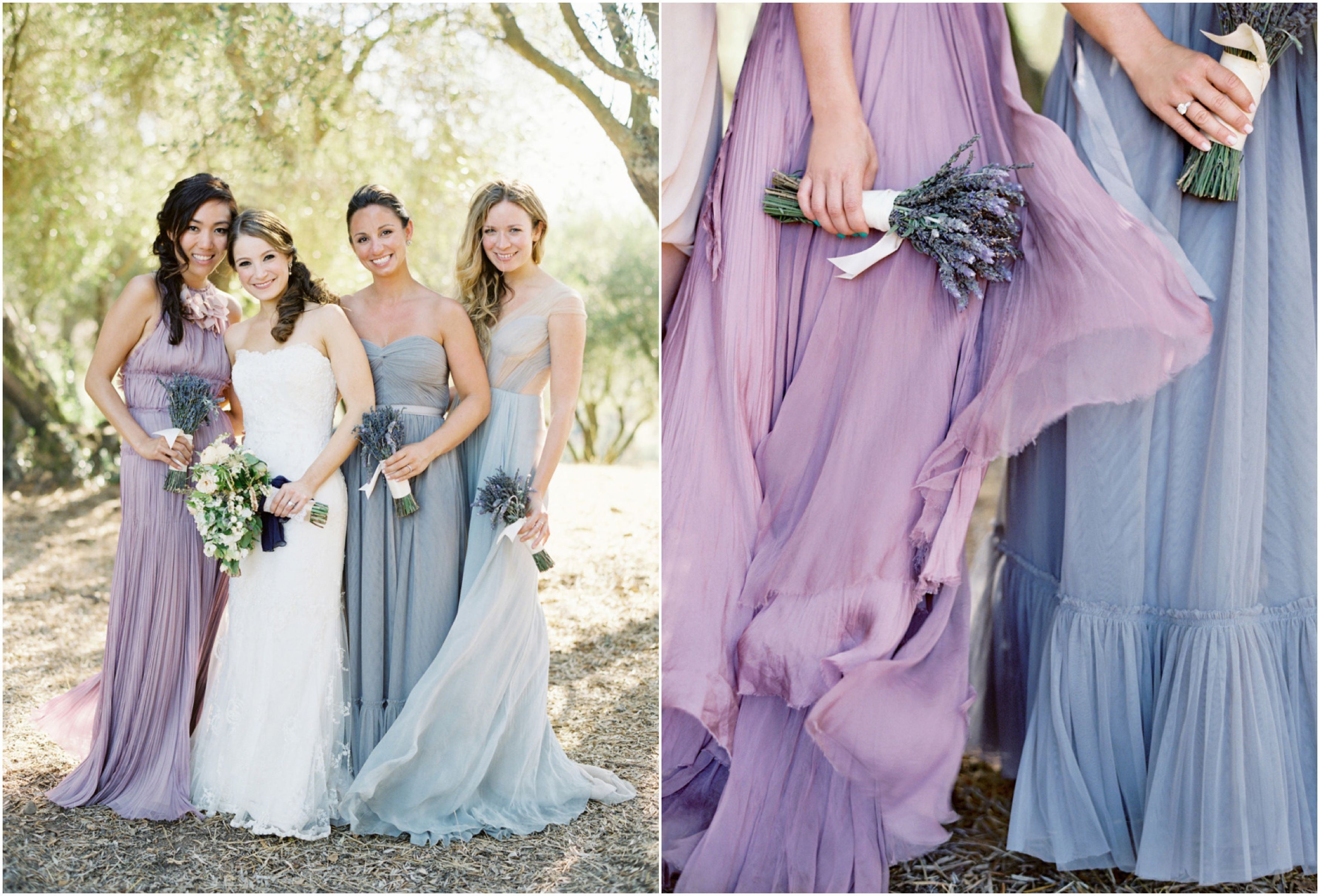 Since i cant decide on a bridesmaid color maybe id mix my three mismatched purple and lavender bridesmaid dress ideas the bride link ombrellifo Image collections