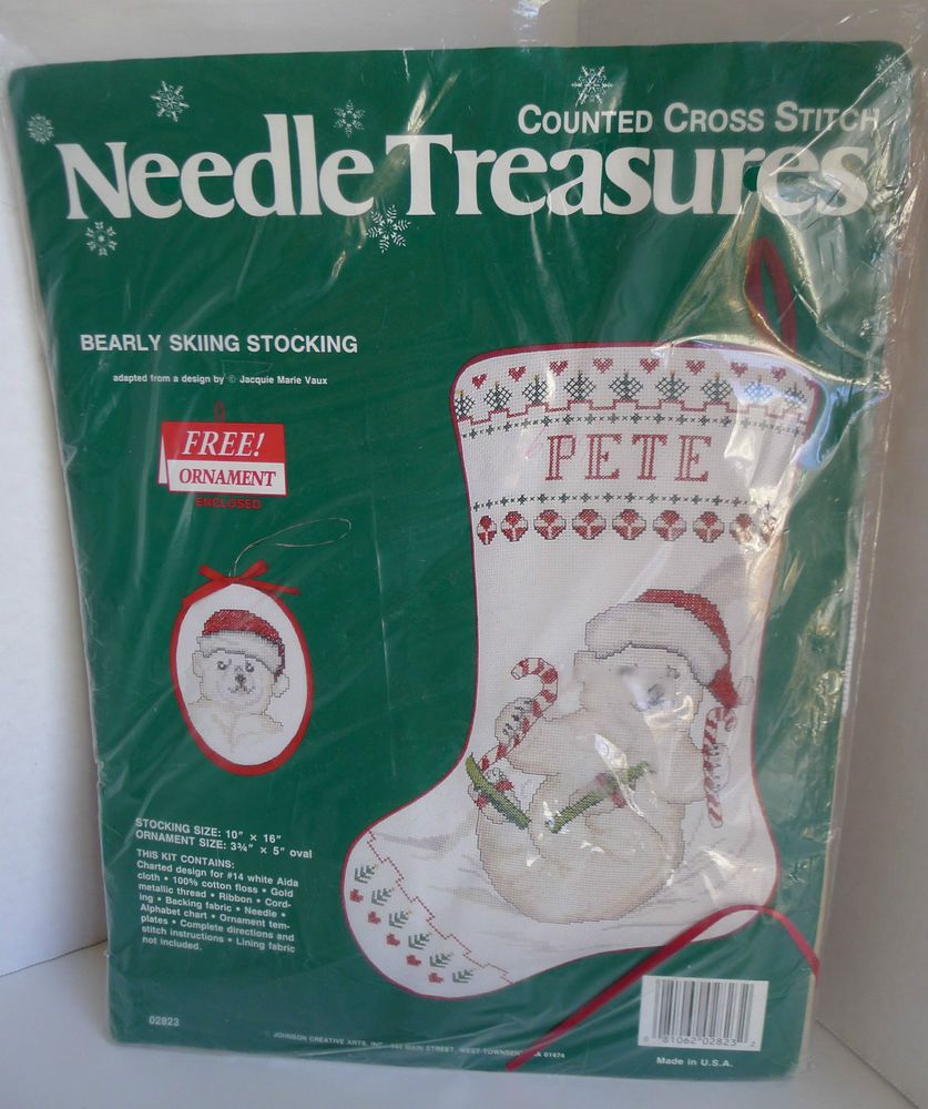 Details about Needle Treasures Winter White Stocking