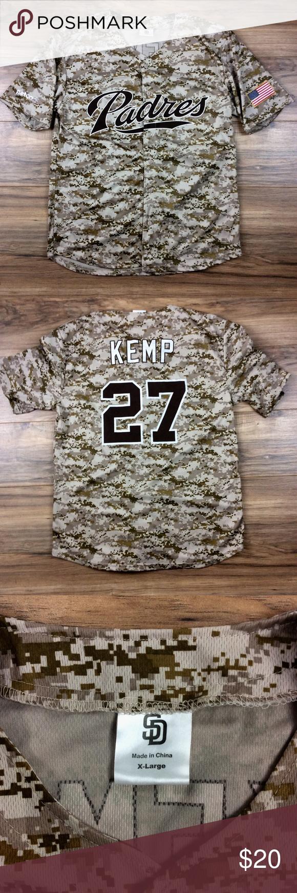 wholesale dealer 5fae4 f53e7 Padres Kemp 27 Baseball Jersey Padres Kemp 27 baseball ...