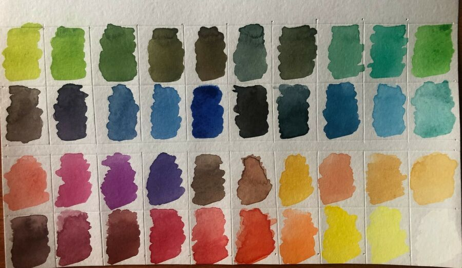 Professional Watercolor Paint Dedovskaya 40 Colors Hand Made Own