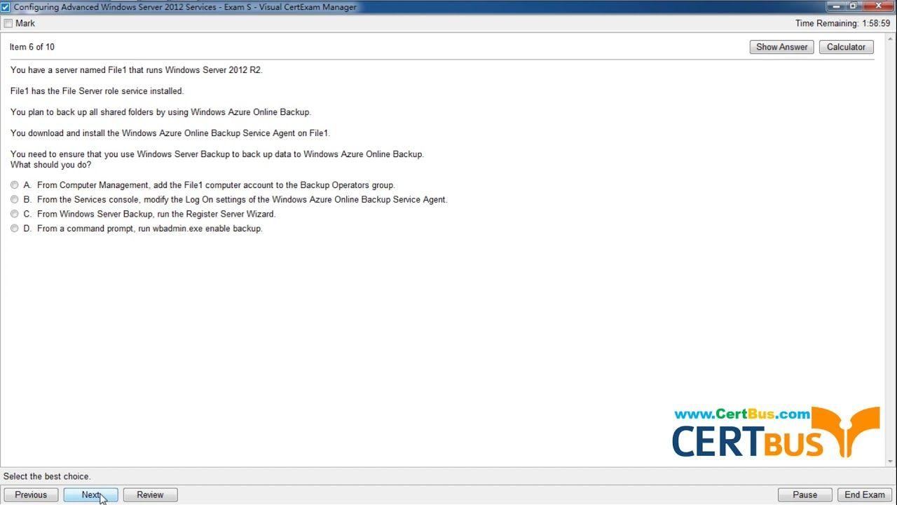 Free Certbus Microsoft 70 412 Vce And Pdf Exam Materials Instant