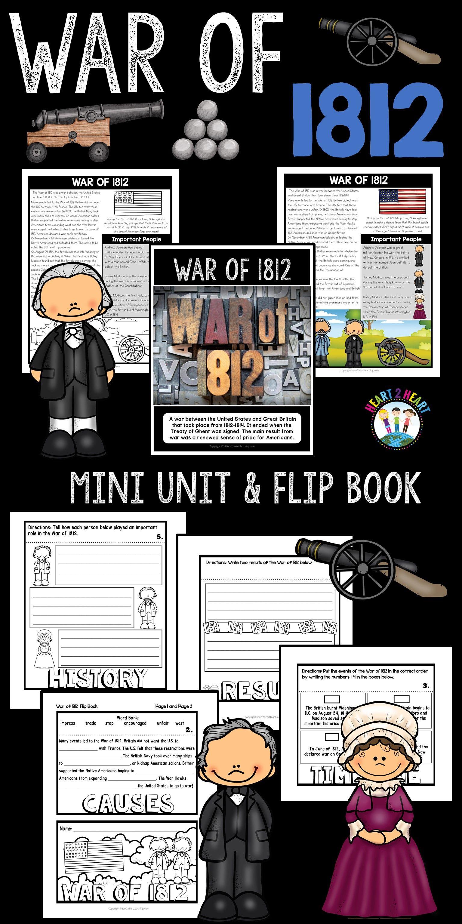 War Of Activities A Mini Unit Amp Flip Book