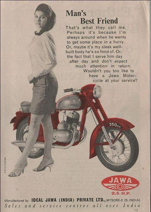 Jawa Motorcycle Man S Best Friend Ad From Mysore Manufacturing Plant Vintage Motorcycle Posters Bike Poster Vintage Poster Design