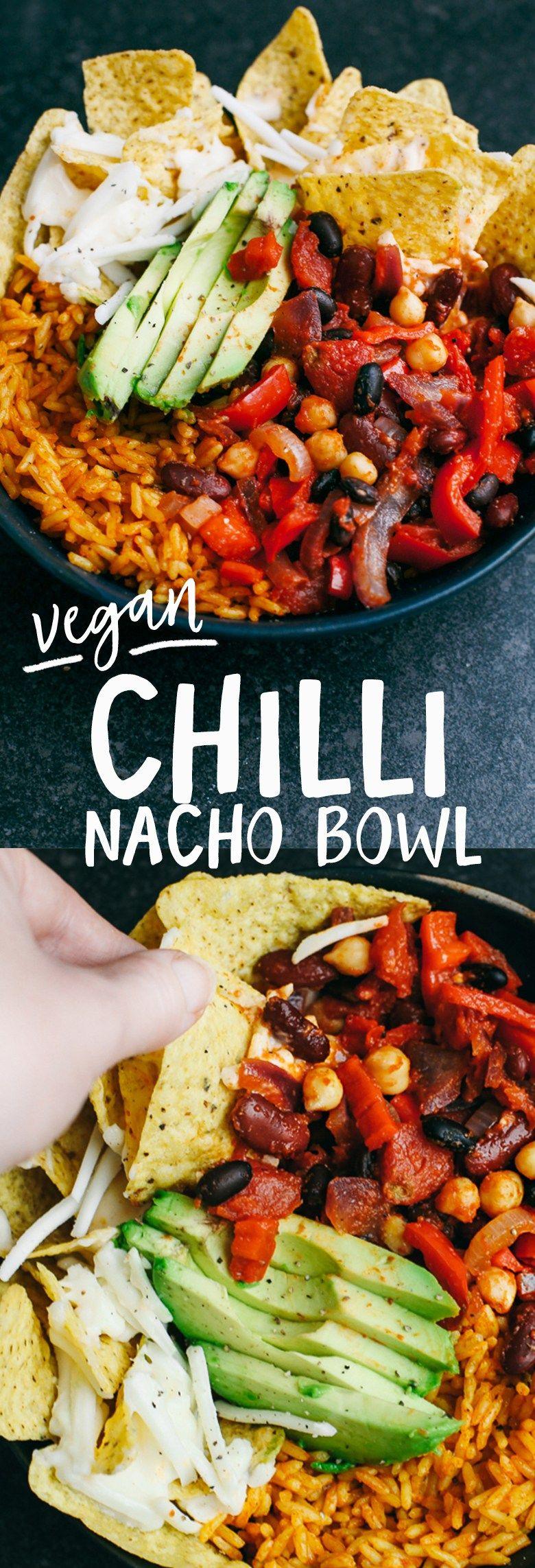 Photo of Vegane Bohnen-Chili-Nacho-Schüssel