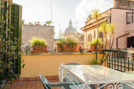 Top floor studio apt with terrace apartments for rent in rome lazio italy