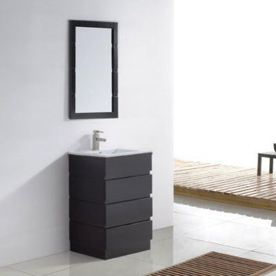 Espresso Single Bathroom Vanity Set Um 3085 C Es