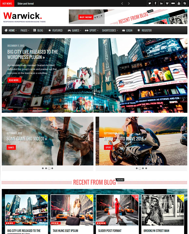 Warwick - Responsive News/Magazine WordPress Theme | Wordpress