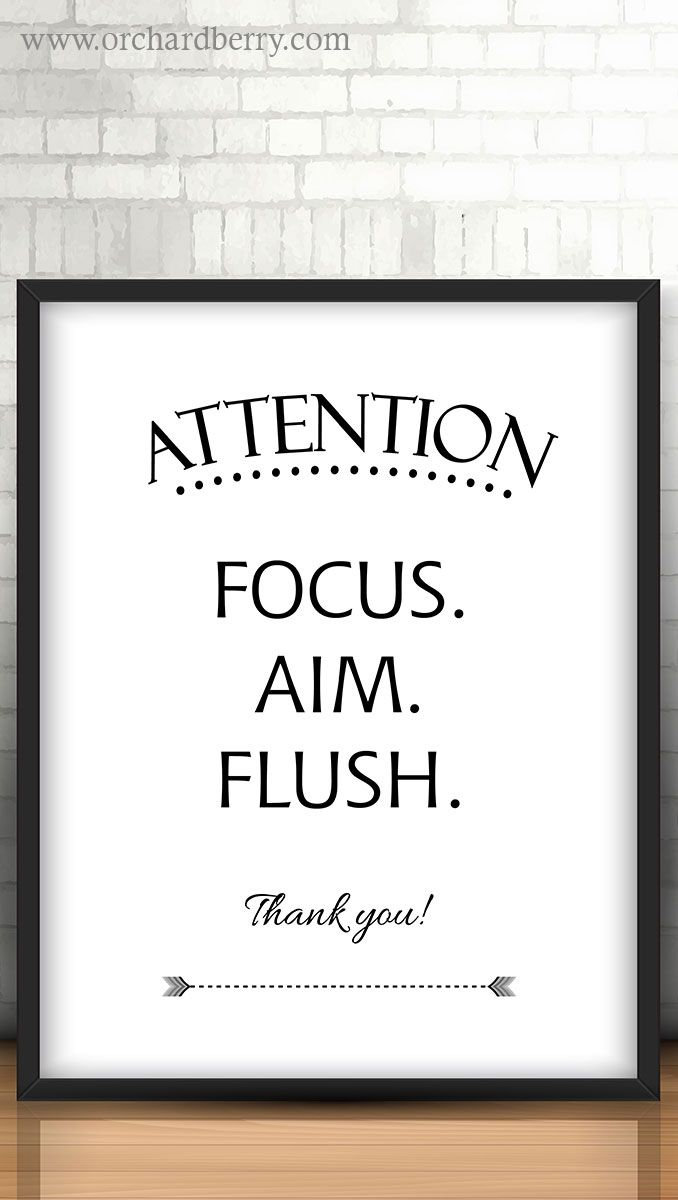 Funny Toilet Sign Focus Aim Flush Bathroom Printable Art Etsy Boys Bathroom Decor Boys Bathroom Funny Toilet Signs