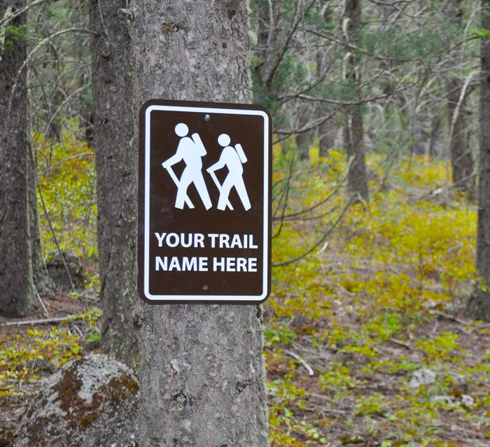 HIKER CUSTOM TRAIL NAME Hiking Vinyl Decal Sticker E
