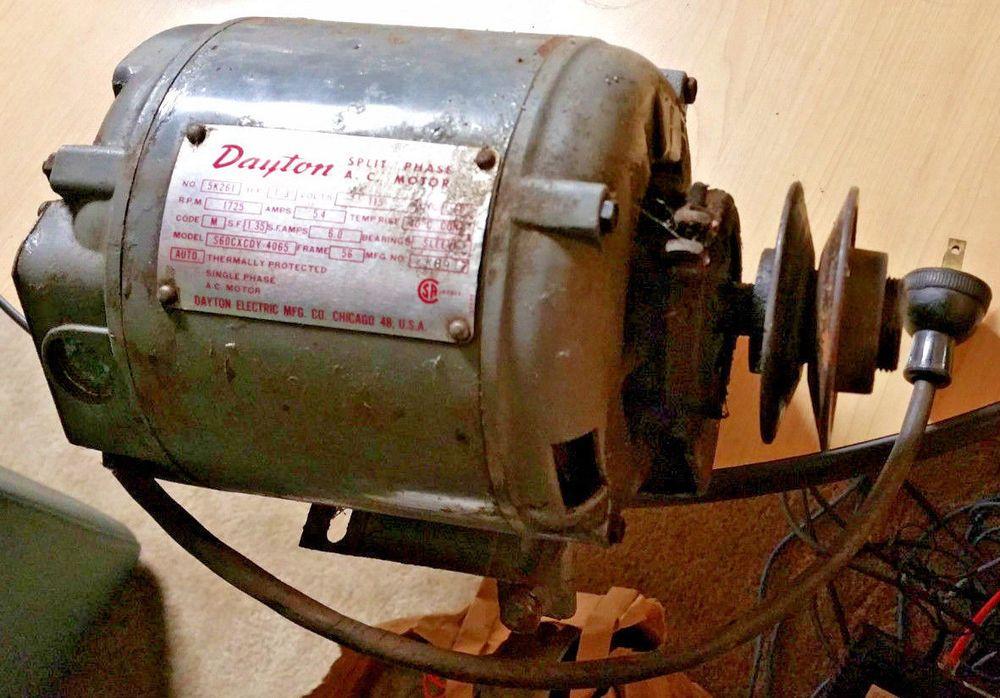Dayton 5k261 1 3 Hp Split Phase Ac Motor 1725 Rpm 115v 5 4a S60cxcdy 4065 Usa Ebay Dayton Motor Splits